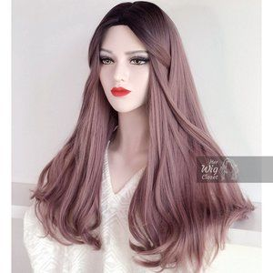 Dark Root Dusty Pink Ombre Wig | Annie